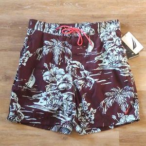NWT Nautica Men's Waikiki Swim Trunks Shorts
